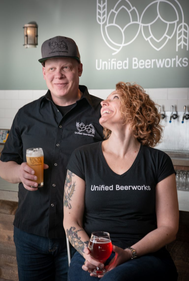 Jeff & Erika owners of Unified Beerworks
